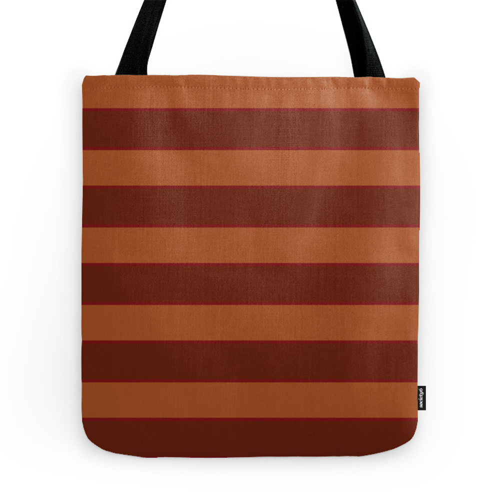 Orange Horizontal Stripes Tote Purse by lydhiamarie (TBG7219480) photo