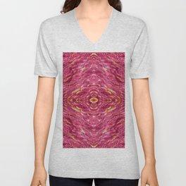 Pattern by pink structure Unisex V-Neck