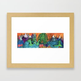 Jovial Nessie Guards Stehekin and the Rose Succulents Framed Art Print