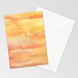 Apricot Sunset Stationery Cards