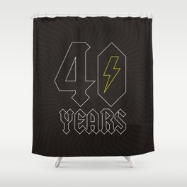 ACDC/40 Years Shower Curtain