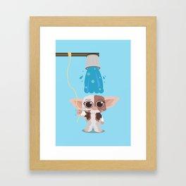 Ice bucket challenge Gizmo Framed Art Print
