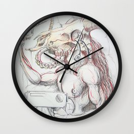Minotaur with drill Wall Clock
