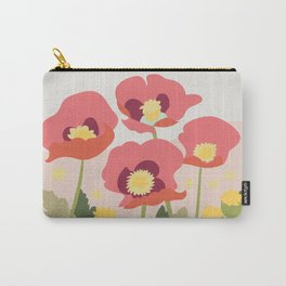 Poppies in the Fields Carry-All Pouch