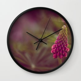 Pink Flow Wall Clock