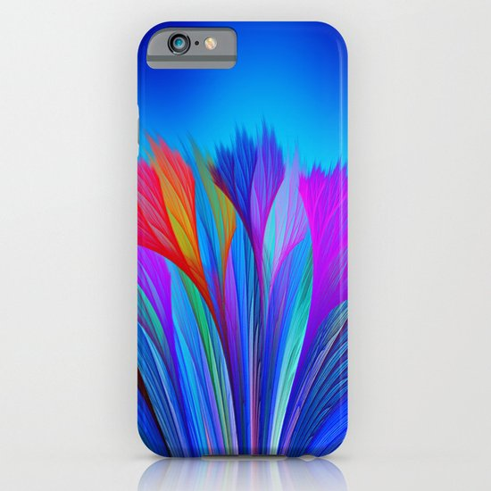 Flower Fantasy in Blue iPhone & iPod Case