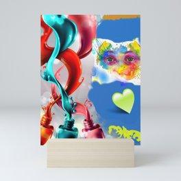 Mirada en temperas Mini Art Print