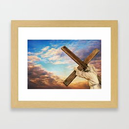 He has Risen Framed Art Print