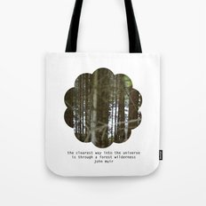 the clearest way into the universe Tote Bag