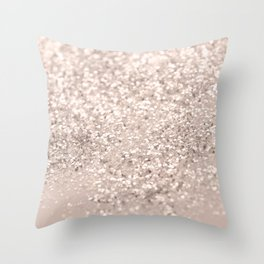 Blush Glitter Dream #4 #shiny #decor #art #society6 Throw Pillow