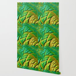 patterns green yellow string Wallpaper