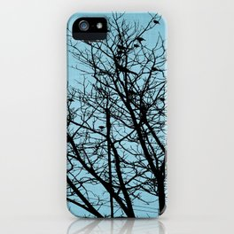 Blue Birds Silhouette iPhone Case