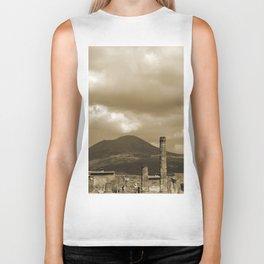 Mount Vesuvius looking down on Pompeii Biker Tank