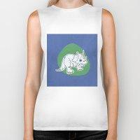 dinosaur Biker Tanks featuring Dinosaur by Caroline Provine