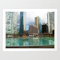 vancouver Art Prints featuring Vancouver by Chris Root