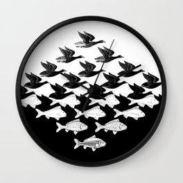 Escher - Sky and Water Wall Clock