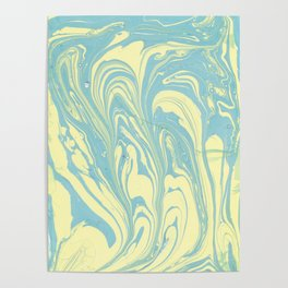 Marble of Yellow & Green Poster