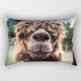 Curious Llama Rectangular Pillow