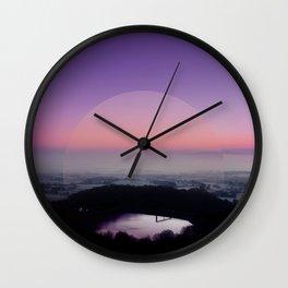 Reservoir Sunrise Wall Clock