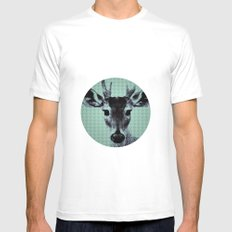 OH MY DEER White Mens Fitted Tee SMALL