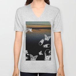 Beach noir Unisex V-Neck