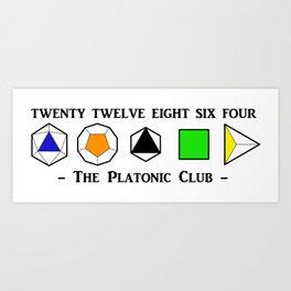 The Platonic Club Art Print