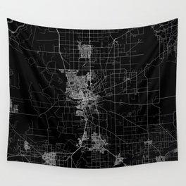 Stockton map California Wall Tapestry