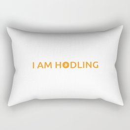 I am hodling Rectangular Pillow