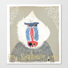 Baboon Canvas Print