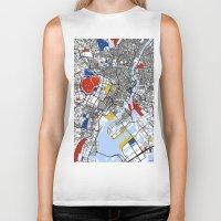 mondrian Biker Tanks featuring Tokyo Mondrian by Mondrian Maps