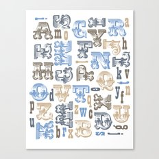 Alphabet Print Canvas Print