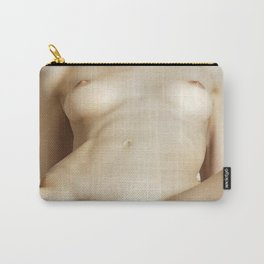 Nude woman lying on the beach Carry-All Pouch
