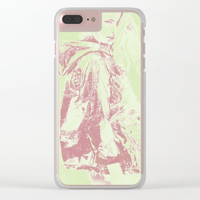 Young girl Clear iPhone Case