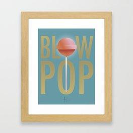 BLOW POP Framed Art Print