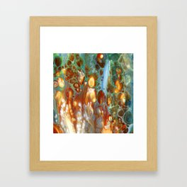 Amber River Lava Lace Flow Framed Art Print