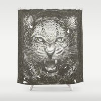 leopard Shower Curtains featuring LEOPARD by Stefania Grippaldi - IDEAS FLY studio
