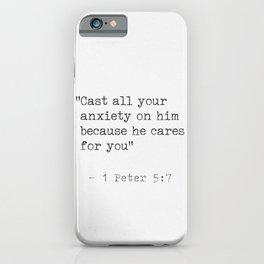 1 Peter 5:7 iPhone Case