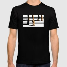 Giraffe Hooves & Stripes Black Mens Fitted Tee SMALL
