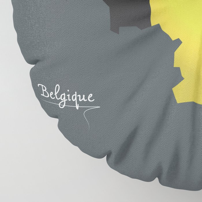 Belgium map special artwork style with flag illustration Floor Pillow