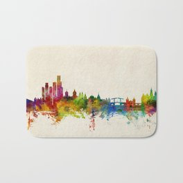 Amsterdam The Netherlands Skyline Bath Mat