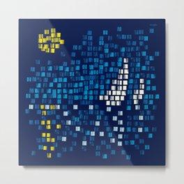 Mediterranean Blue Mosaic Metal Print