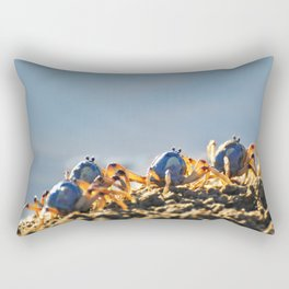 Blue soldier crabs Rectangular Pillow