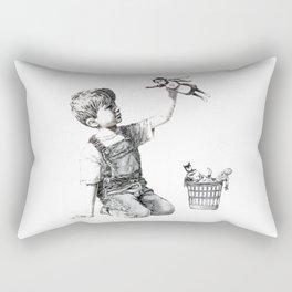 Banksy Game Changer 2020 Reproduction, Artwork for Wall Art, Posters, Prints, Tshirts, Men ,Women, Kids Rectangular Pillow
