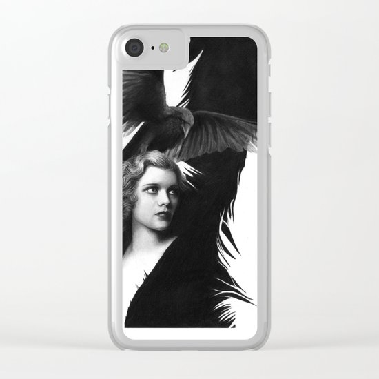 Lady and the Raven Clear iPhone Case