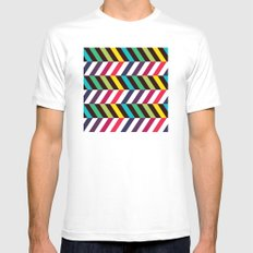 Colorful Zigzag Mens Fitted Tee MEDIUM White