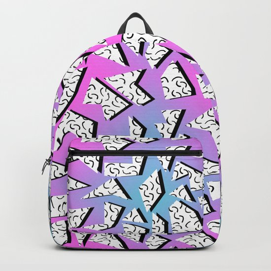 Gnarly - retro memphis throwback pattern print 1980s 80's style minimal modern pop art neon hipster Backpack