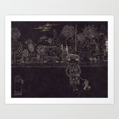 Last night Dream Art Print