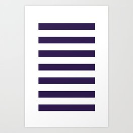 dark purple stripes Art Print