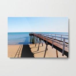 Harvey Bay Board Walk Metal Print