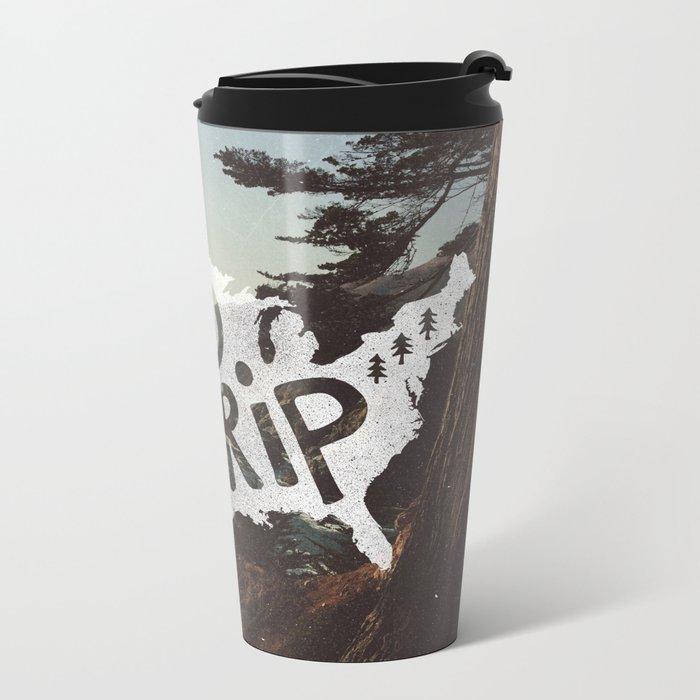 Road Trip USA - big sur Metal Travel Mug